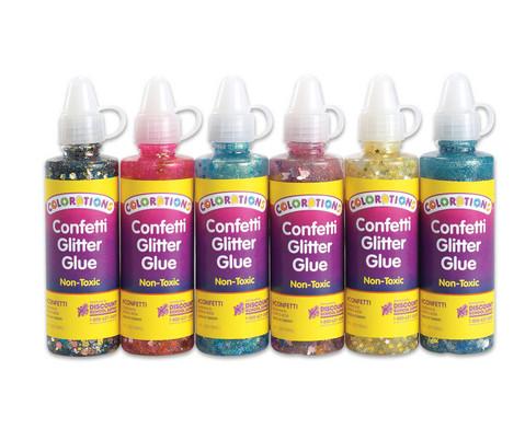 Konfetti-Glitter-Kleber 6 x 118 ml