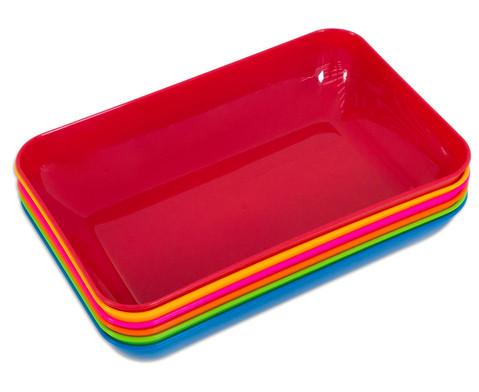 Materialschalen 6 Stueck Groesse und Farbset waehlbar