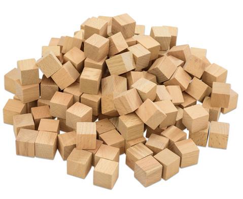 Betzold Holzwuerfel naturbelassen 150 Stueck