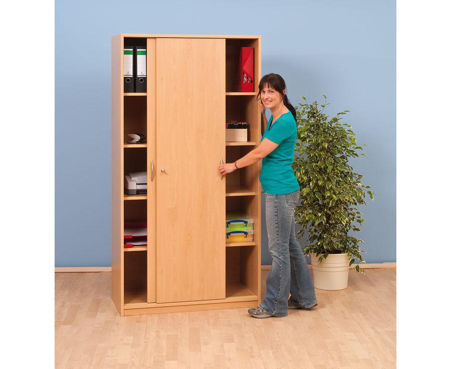 schiebet ren schrank ohne mittelwand mit 4 b den tiefe. Black Bedroom Furniture Sets. Home Design Ideas